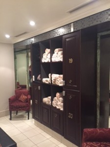 Great change rooms at Renaissance Spa