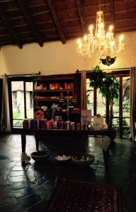 The enchanting reception area of the Spa in the Country