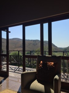The breathtaking view from Kloofzicht Spa